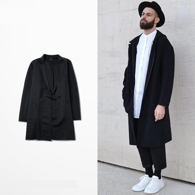 b3d466aa28a79 Limitada outono   inverno homens jaqueta casacos moda Streetwear Hip Hop  casacos longa dos homens ao