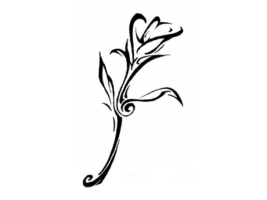 Cool Lilie Tribal Tattoos Tribal Flower Tattoos Lily Tattoo Calla Lily Tattoos