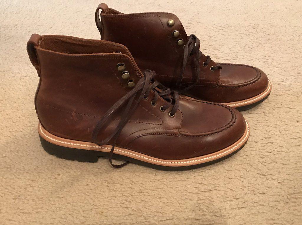 8cc2e232878 J.crew kenton leather pacer boots size 9,5m burnished tobacco c8867 ...