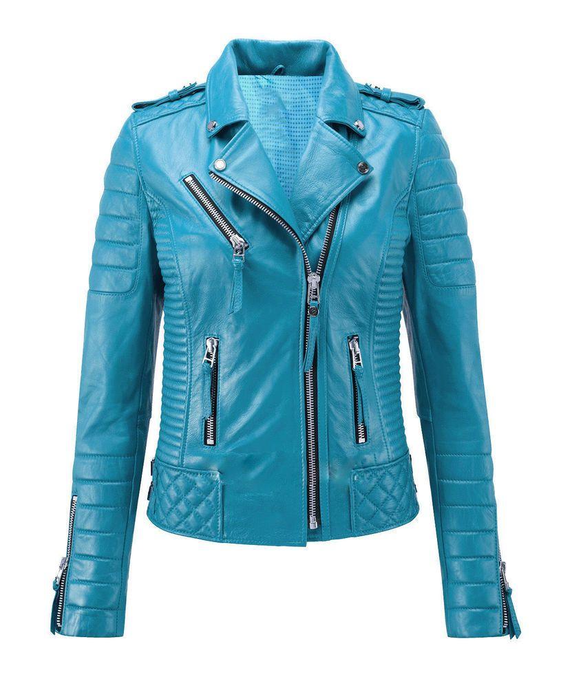 0626bd3123af6 New Women s Genuine Lambskin Leather Jacket Motorcycle Slim fit Biker Jacket   LeatherCraze  Motorcycle