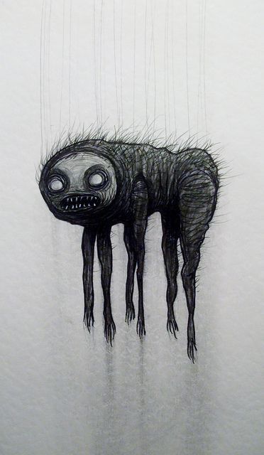 The Talasam Hellish Creature From Bulgarian Folklore That Comes Out Of Dark Attics At Night To Terrorize Littl Creepy Art Art Mythological Creatures