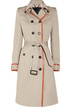 Gorgeous leather coat from Burberry