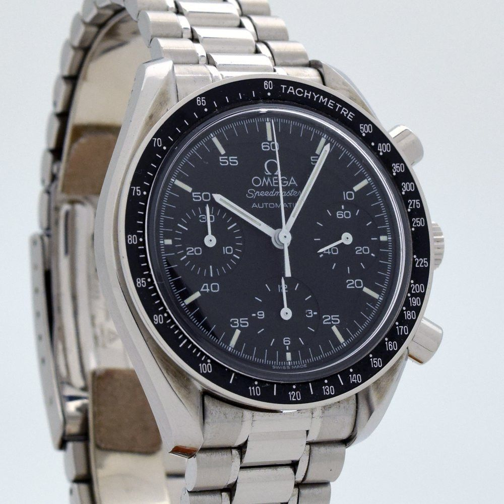 1997 omega speedmaster automatic ref stainless steel watch uhren und. Black Bedroom Furniture Sets. Home Design Ideas