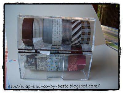 scrappen und mehr by beate washi tape aufbewahrung. Black Bedroom Furniture Sets. Home Design Ideas