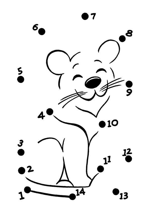 Disegni unisci i puntini facili pronti da stampare gratis - Colore per numeri per i bambini ...