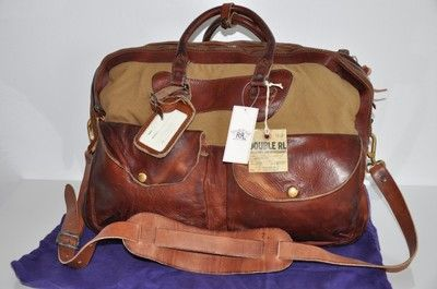 Ralph Lauren RRL VINTAGE Leather Canvas Duffle Bag