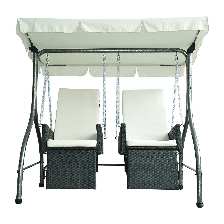 outsunny luxury heavy duty patio swing