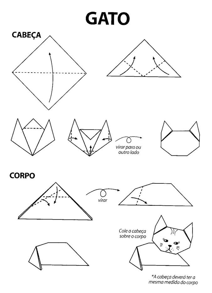 Well-known atividade dobradura gato - Pesquisa Google | Dobradura | Pinterest  PO19