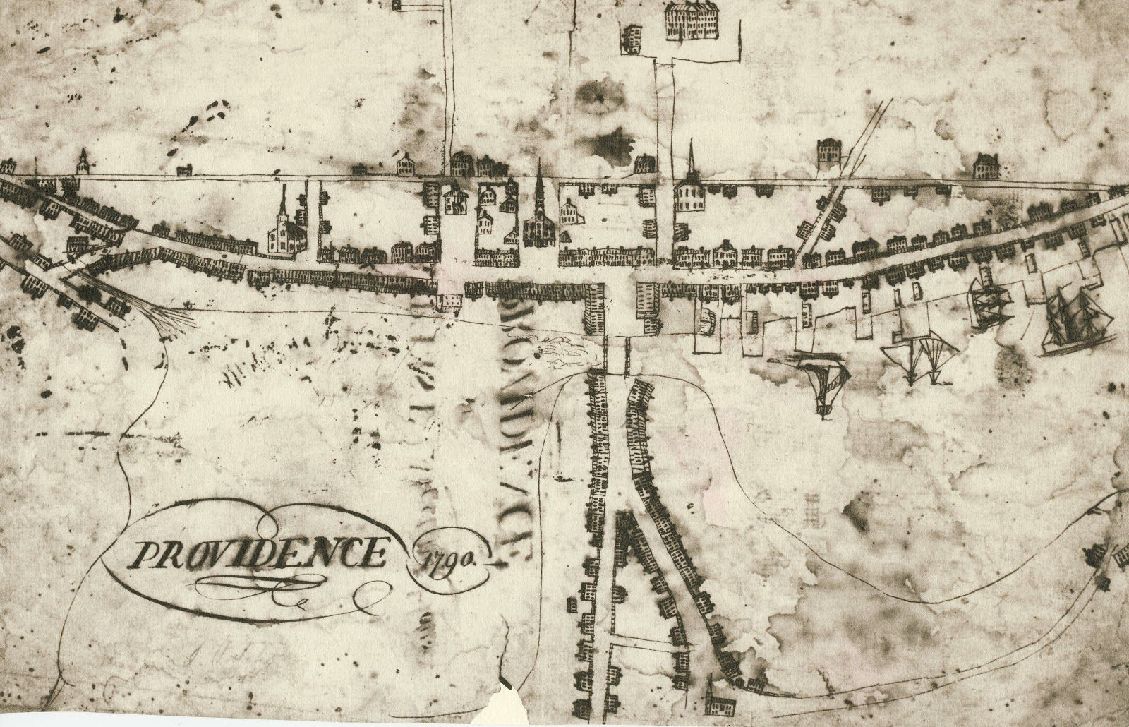 Map of Providence in 1790 The earliest