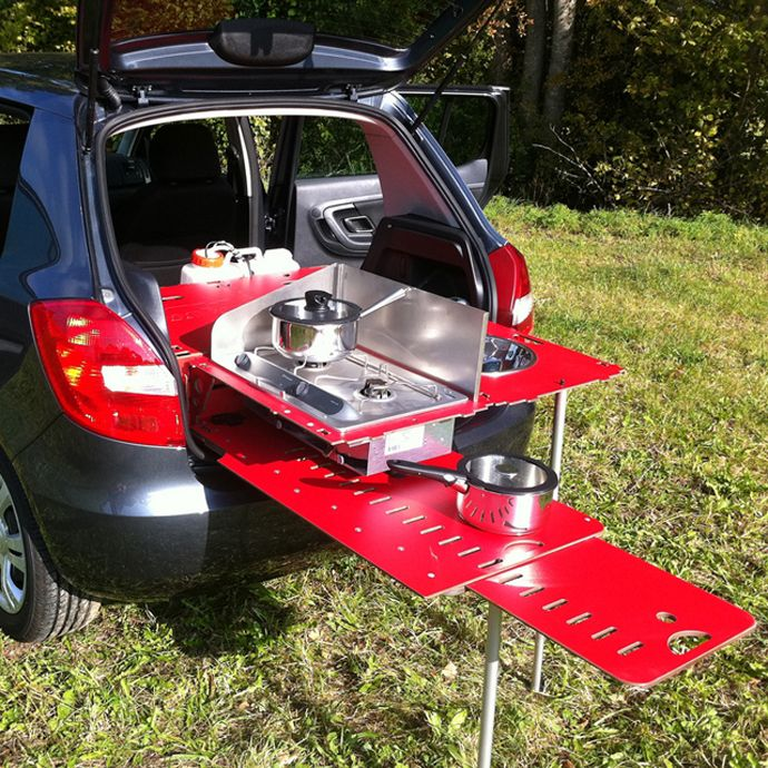 Camping Like A Boss With This Great Mini Kitchen! | Http://www