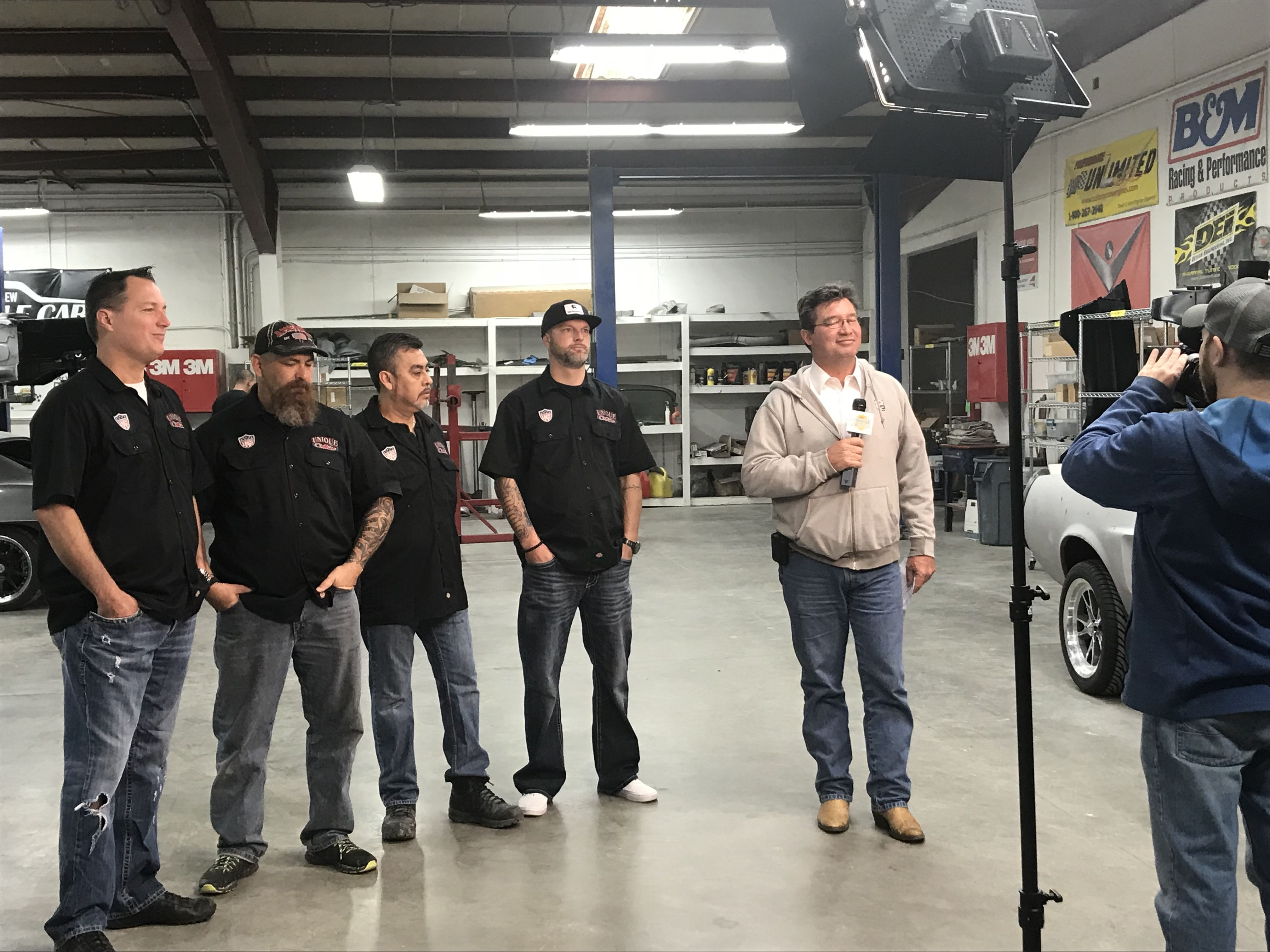 Keith Taylor and Channel 8 Morning Show broadcasting LIVE