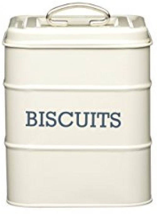 Metal Biscuit Tin Storage Retro Canister Airtight Container Vintage Cream Biscuit Tin Kitchen Crafts Biscuits