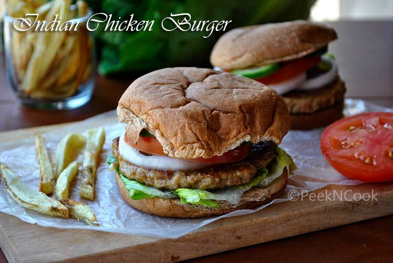 Homemade Spicy Indian Style Ground Chicken Burger Recipe Chicken Burgers Easy Burger Recipe Easy Chicken Burger Recipe