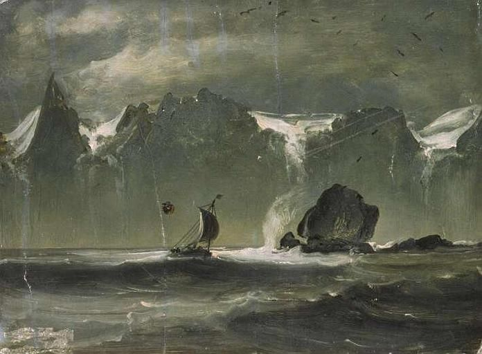 Painting Sailing By The Seven Sisters By Peder Balke A Fabulous 19th Century Norwegian Painter Scandinavian Paintings Moonlight Painting Scandinavian Art
