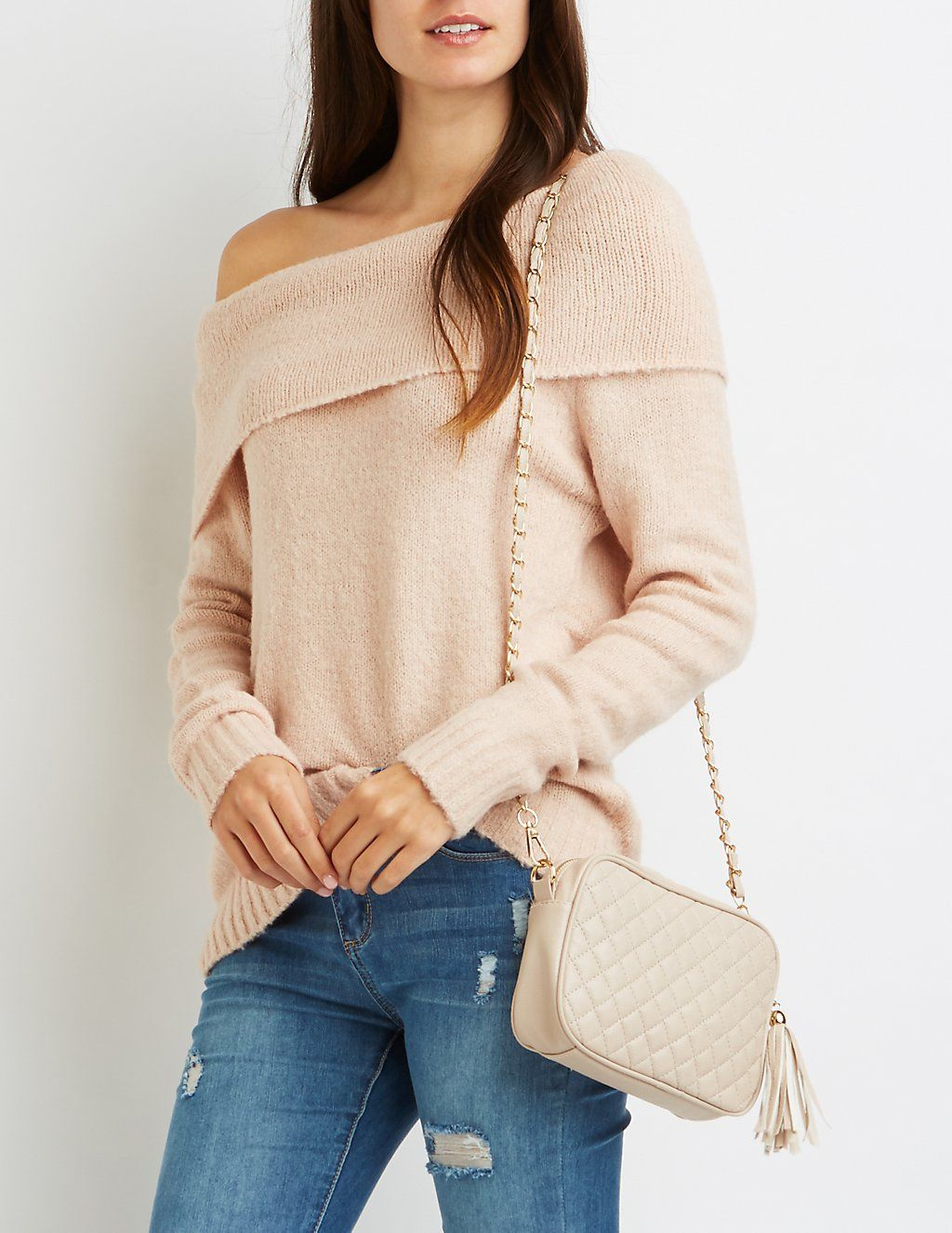 Cowl Neck Off The Shoulder Sweater Wish List Sweaters Cowl Neck
