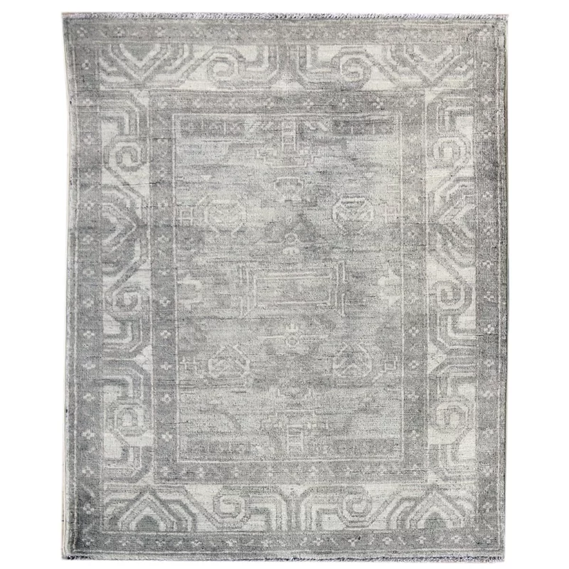 Soft Tone Khotan Design Hand Knotted Wool Gray Indoor Area Rug Rugs Carpet Design