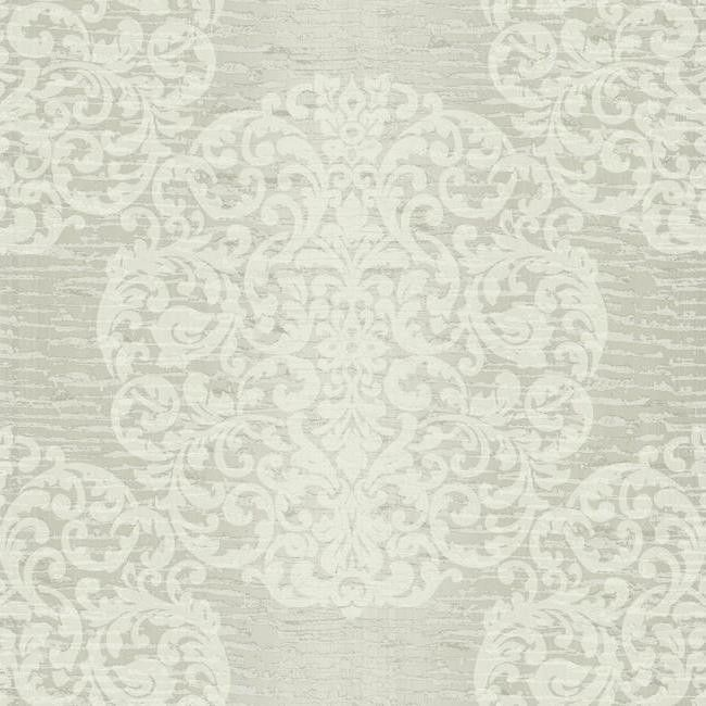 Marquette Wallpaper in Silver and Grey by Ronald Redding for York Wall | BURKE DECOR