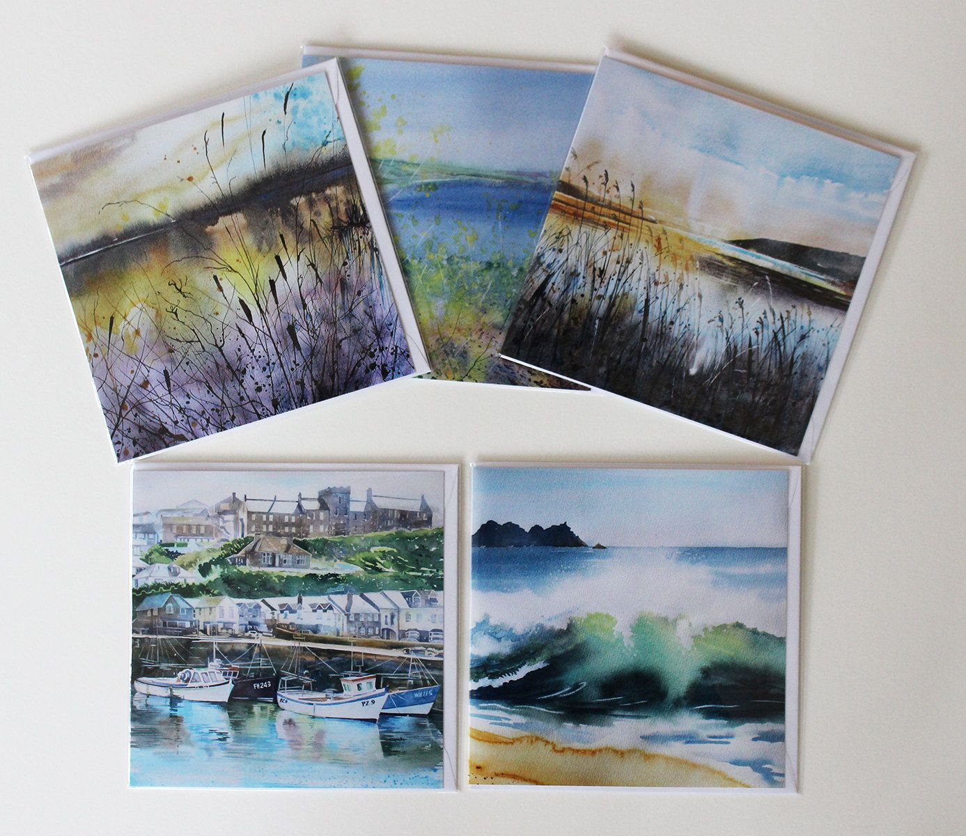 Fine Art Card Set Of 5 Art Cards Of Cornwall From Original