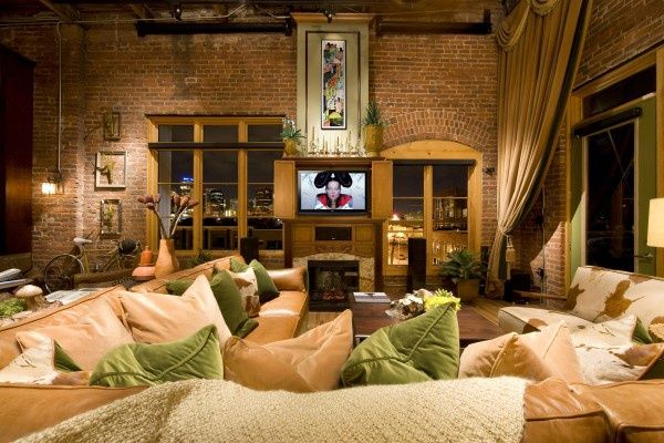 brick loft apartment space pinterest briques. Black Bedroom Furniture Sets. Home Design Ideas