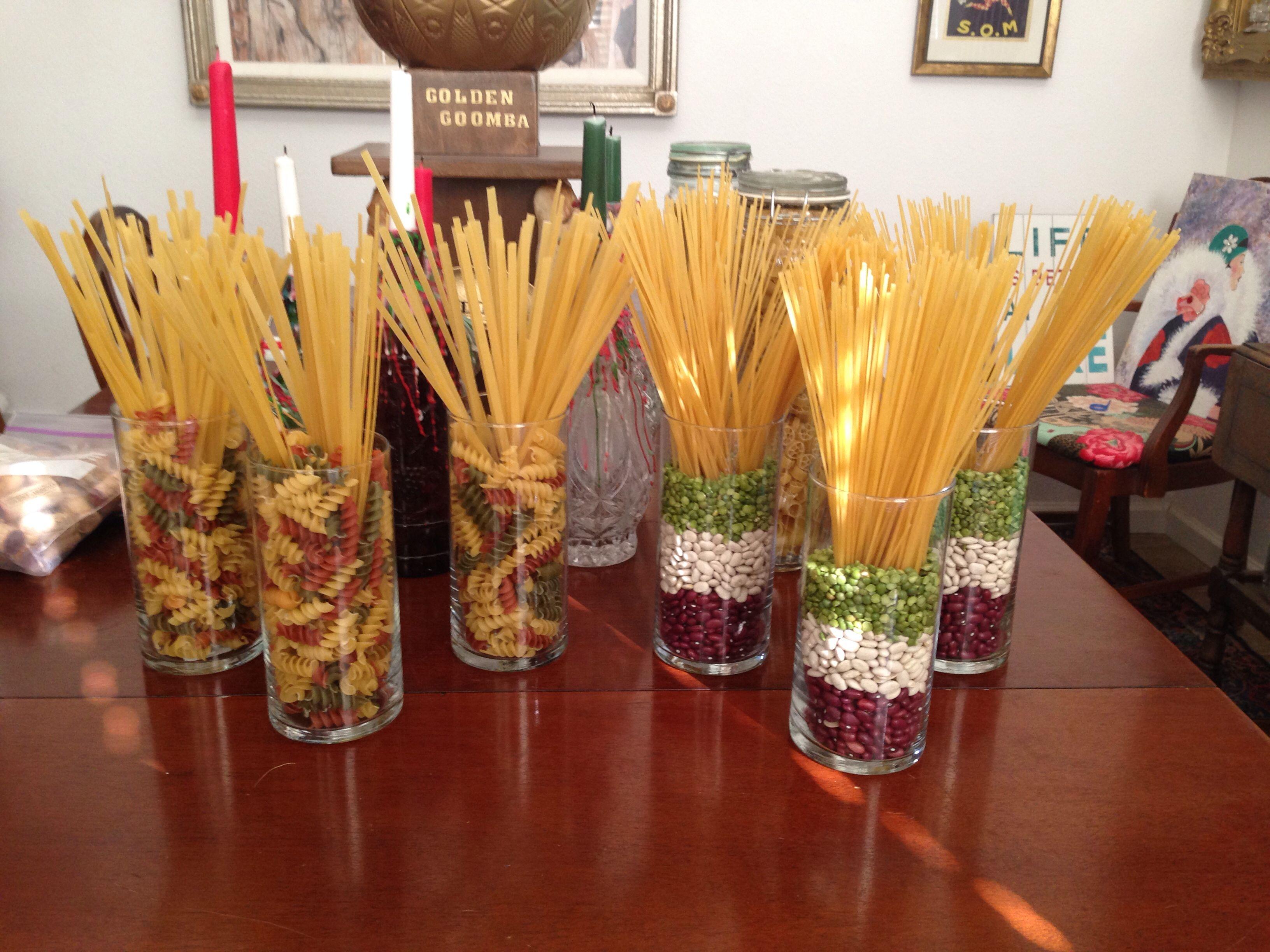 Italian pasta centerpieces event planning ideas for Italia decor