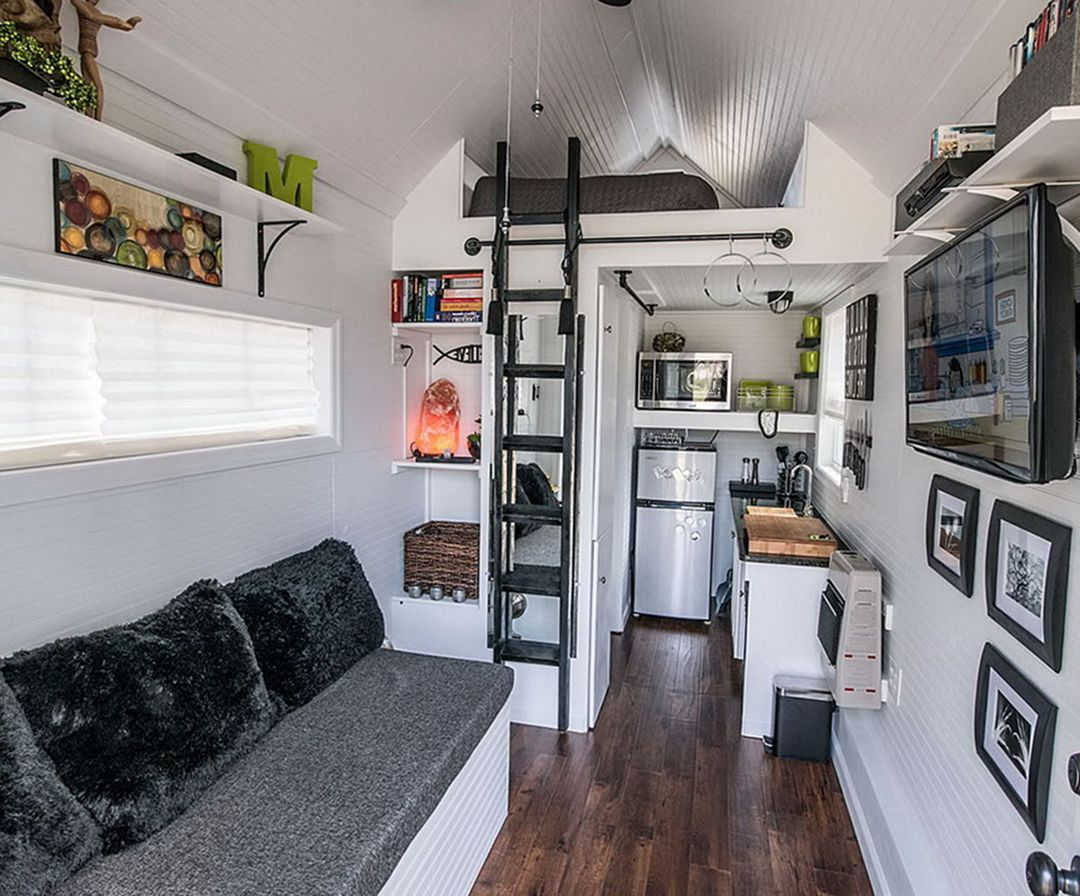 30 Elegant Tiny Houses Interior Design Ideas For Comfortable