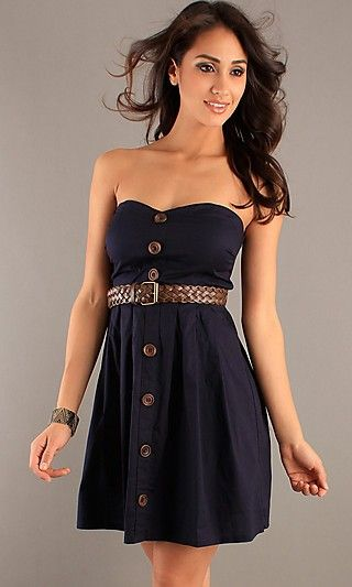 Strapless Sweetheart Casual Dress