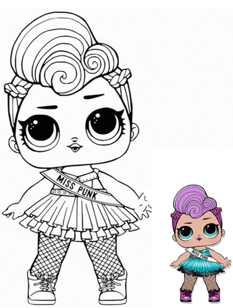 Lol Miss Punk Para Colorear Unicorn Coloring Pages Cartoon Coloring Pages Lol Dolls