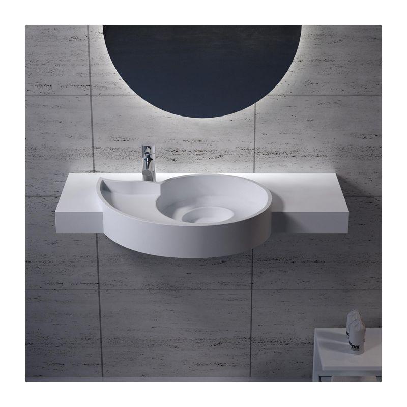 Plan Vasque 100 Cm Design En Polystone Plan Vasque A Suspendre Sdpw43 Plan Vasque Vasque Solid Surface
