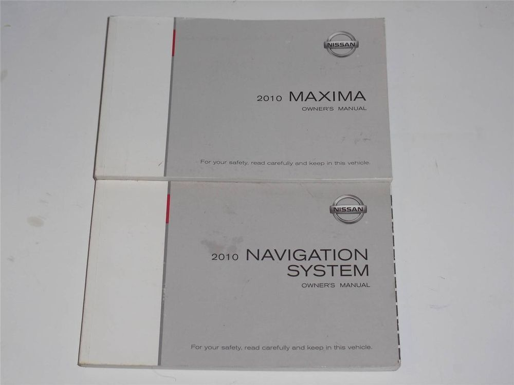 2010 Nissan Maxima Owners Manual Book And Navigation System Manual Book Owners Manuals Navigation System 2010 Nissan Maxima