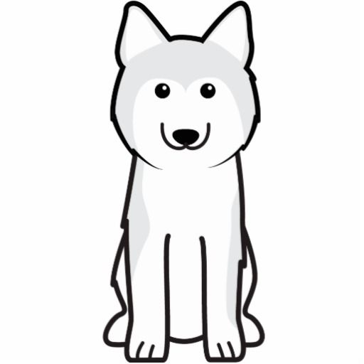 Siberian Husky Dog Cartoon Cutout | Pinterest | Cartoon photo, Husky ...