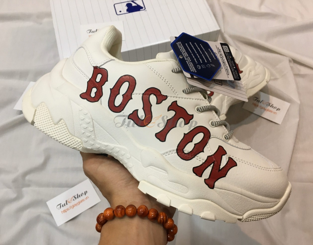 Giay Sneaker Mlb Korea Boston Red Sox Nam Nữ Replica 1 1 Gia Rẻ Boston Red Sox Mlb New York Yankees