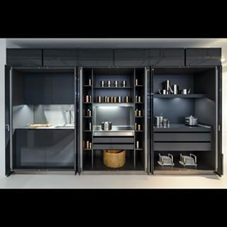 Exceptional #varenna #kitchen #Poliform #pocket #door #solutions Phoenix Model With Pocket  Door Solutions .functional Spaces Concealed Behind A Beautiful Joinery ...