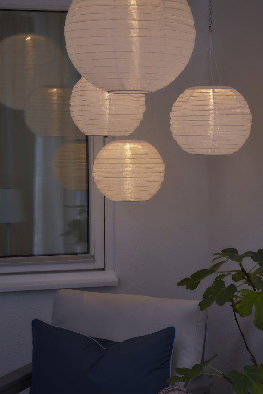 Solvinden Solarhangeleuchte Led Fur Draussen Rund Weiss Ikea Deutschland In 2020 Solar Beleuchtung Kleiner Wintergarten