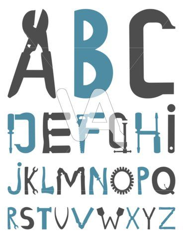tool clipart. alphabet with tool clipart | vector graphics of the from tools. a illustration