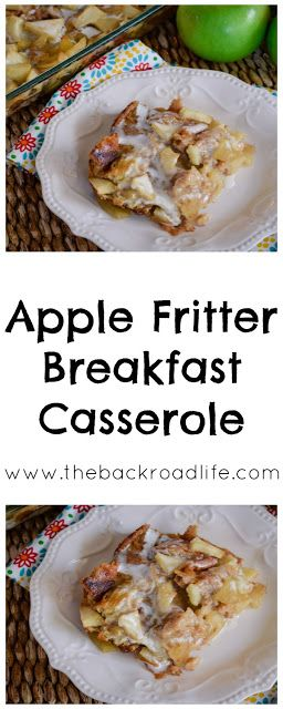 Apple fritter flavors packed into a breakfast casserole. Super easy and delicious recipe using apples and croissants.