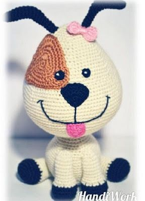 1000 схем амигуруми на русском вязаная игрушка собака Vyazanie