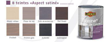 Nuancier peinture pour meuble liberon 8 coloris cuisines - Badigeon meuble liberon ...