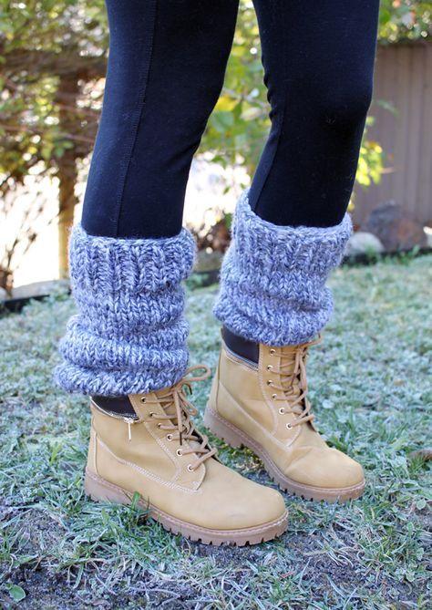 Free Knitting Pattern Chunky Slouchy Leg Warmers Leg Warmers