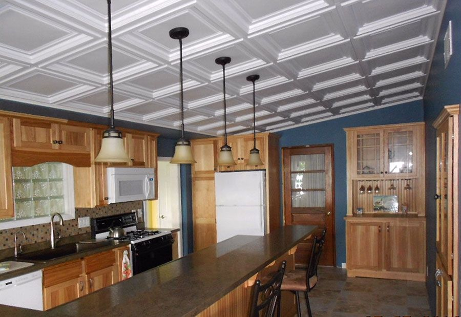 Super This Kitchen Got The Look Of A Coffered Ceiling For A Download Free Architecture Designs Sospemadebymaigaardcom