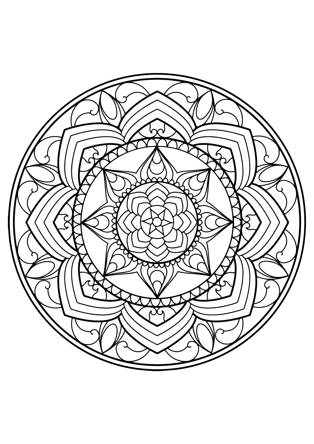 Mandala From Free Coloring Books For Adults 13 Mandalas Coloring