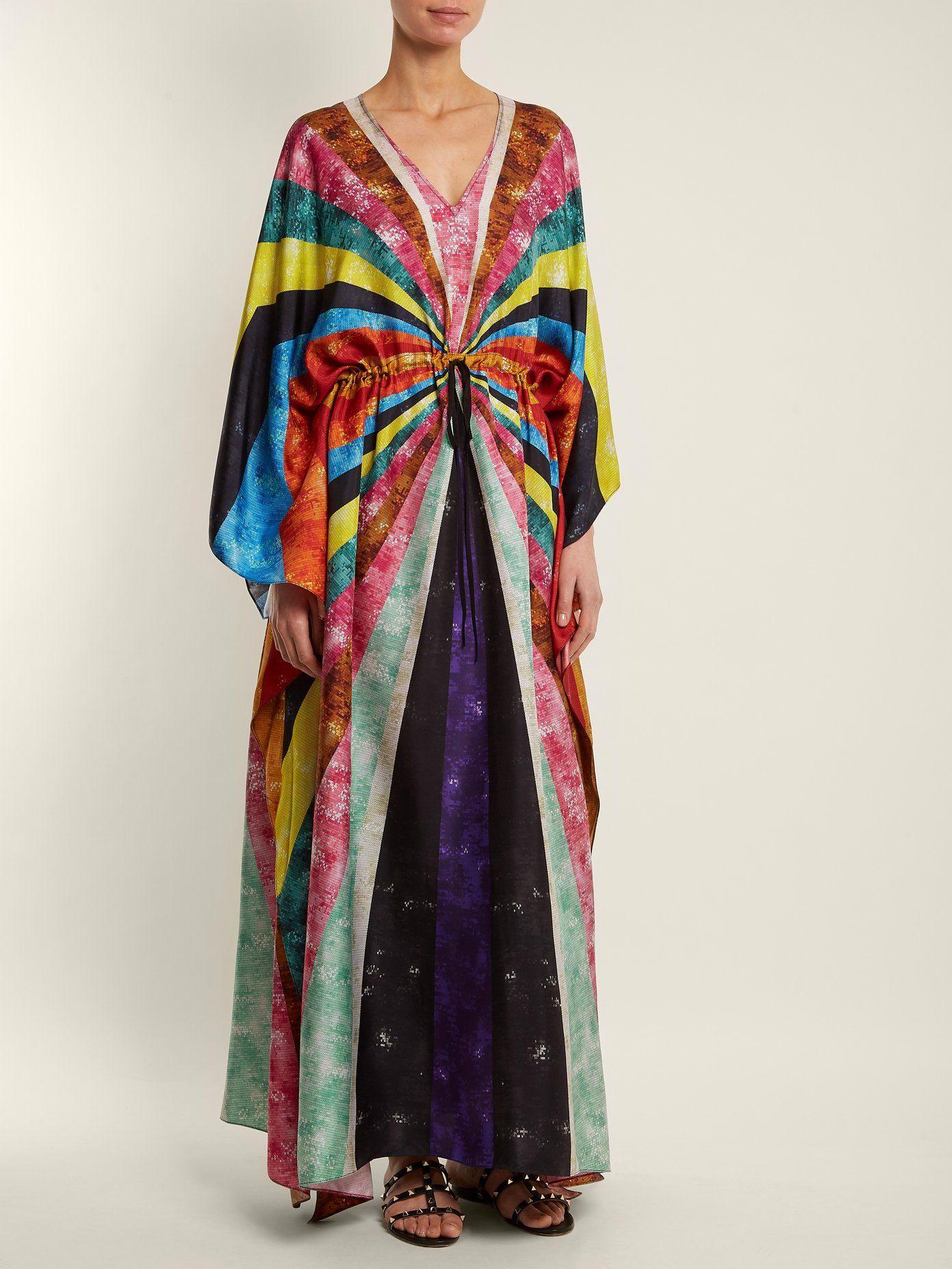 Discount High Quality Asso silk kaftan Mary Katrantzou Free Shipping Finishline Outlet Latest Sale Shop Offer 1JISTP