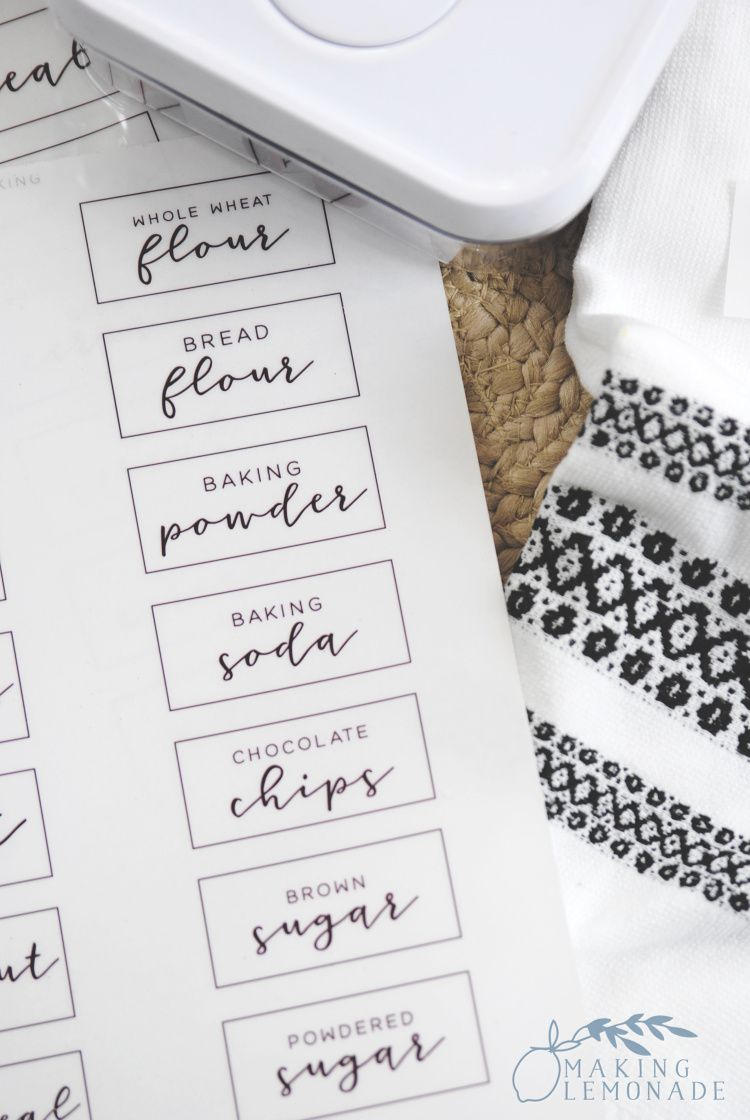 Free Printable Pantry Labels to Organize Your Kitchen