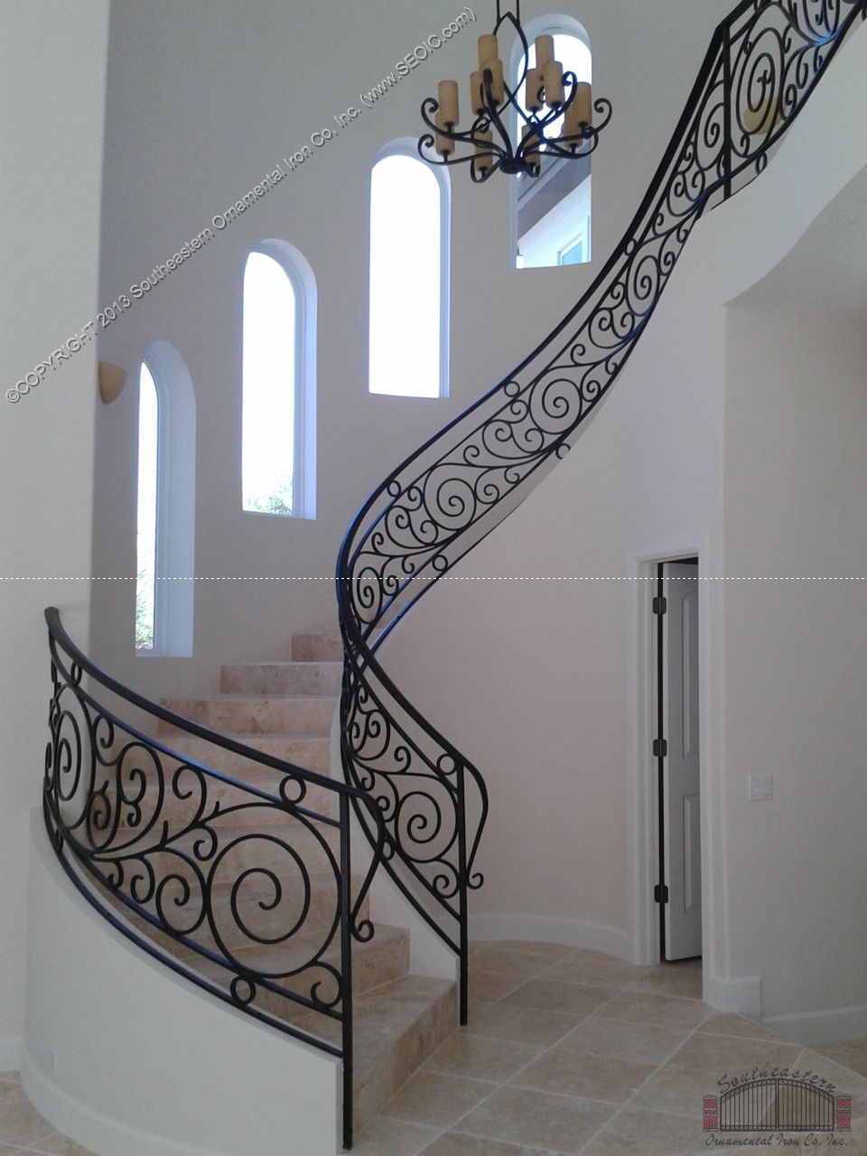 Wrought iron staircase railings ideas iron stair for Interior iron railing designs
