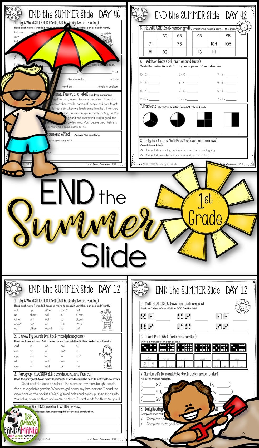 "Avoid the ""summer slide"" and keep your 1st graders' skills strong over the"