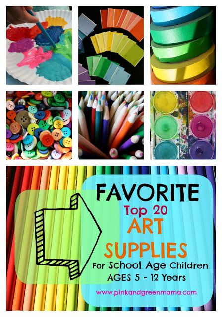 * Making Art At Home: My Favorite Art Supplies for School-Age Children Great Reference