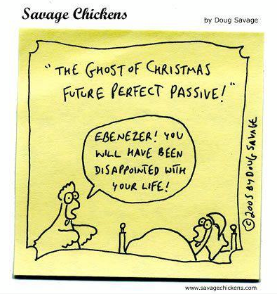 The Ghost of Christmas Future Perfect Passive !