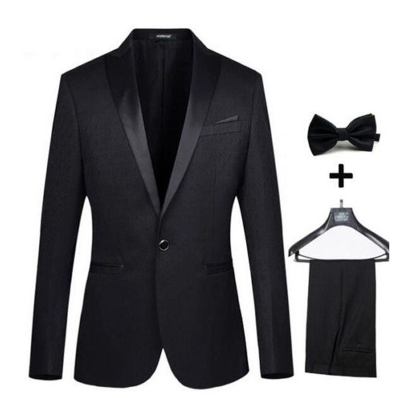 Click to Buy << Custom Made Black Men Wedding Groom Tuxedos ...