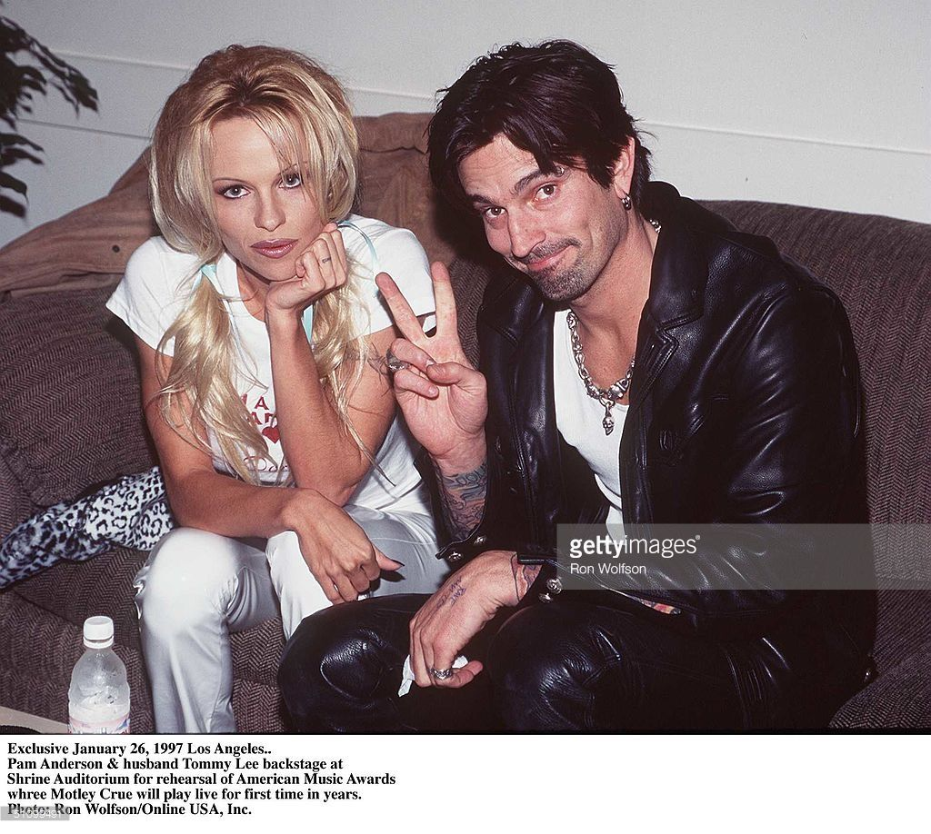 Pamela anderson tommy lee wedding bands - Exclusive February 1997 Nikki Sixx Of Motley Crue And Wife Donna D Errico Of Baywatch Nights Pam Anderson And Husband Tommy Lee Also Of Motley Crue At