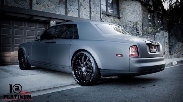 Rolls Royce Phantom Best Luxury Cars: Matt Black Rolls Royce Phantom