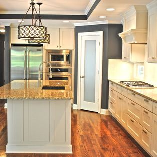 kitchen with cabinets frosted glass pantry doors design ideas pictures remodel 3493